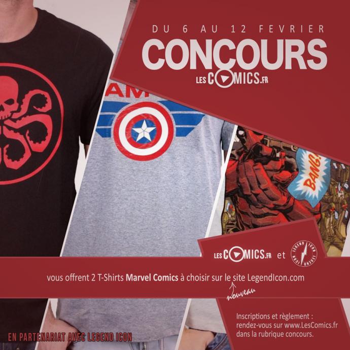 Legend Icon vous offre 2 t-shirt Marvel