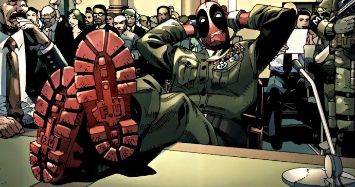 Deadpool les pieds sur la table