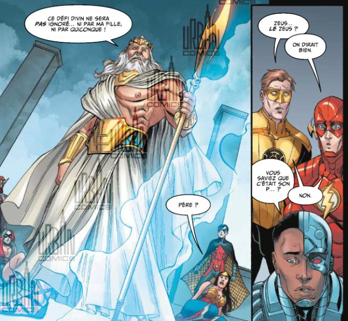 Flash, Hal Jordan et Cyborg face à Zeus