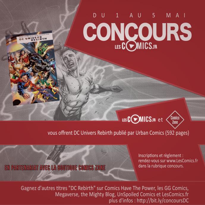 DC Univers Rebirth le concours