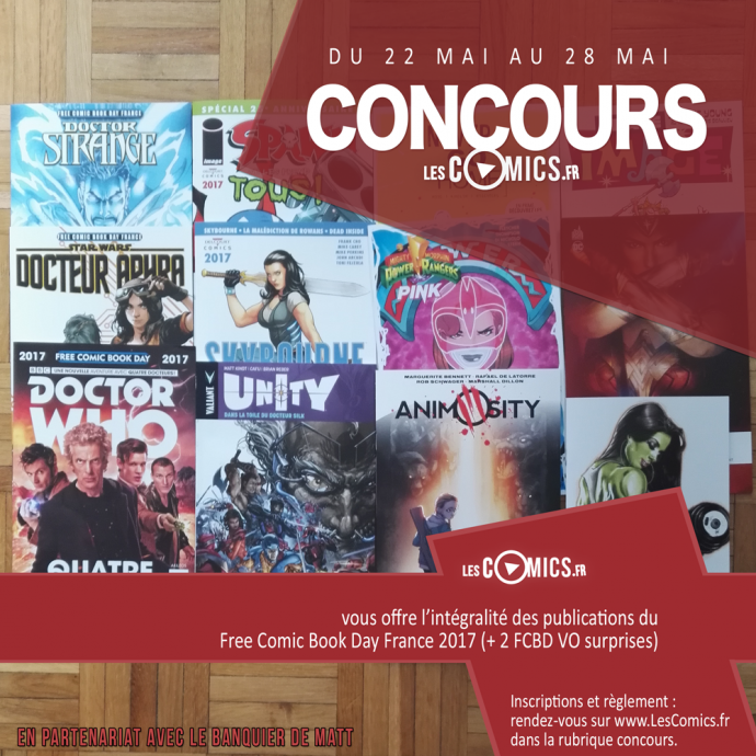 le concours Free Comic Book Day 2017