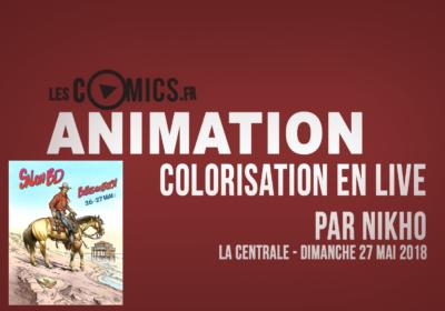 Colorisation en live par Nikho - Bulles en Buch 2018