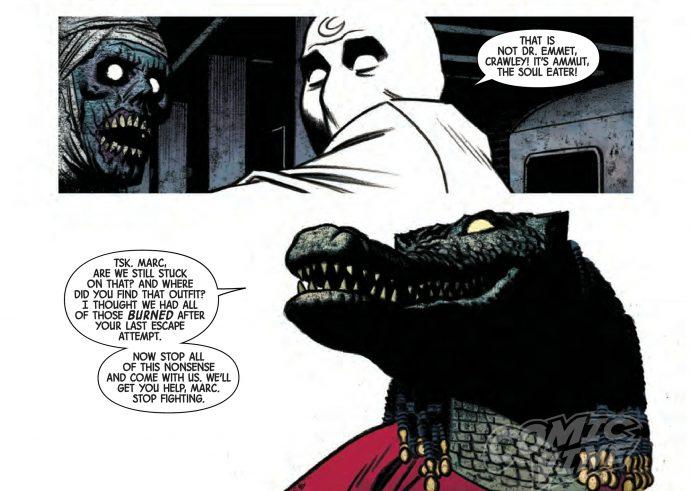 Des hommes crocodiles affrontent Moon Kngiht