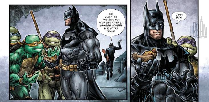 Découverte de la pizza par Batman