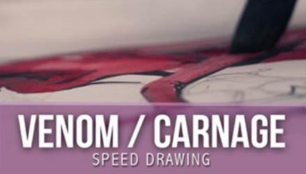 Speed Drawing de Venom et Carnage par Nikho