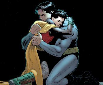 Gros calin de Robin à son papa