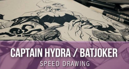 Speed Drawing - BatJoker Captain Hydra