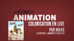 Nikho fait une démonstration de colorisation [Bulles en Buch 2018]