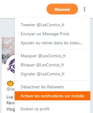 Suivre LesComics.fr Twitter