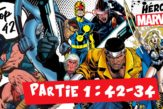 top 42 des héros Marvel - partie 1 conan reed richards nova hit-monkey cyclops luke cage valkyrie