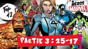 top 42 heros marvel comics