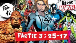 top 42 heros marvel comics