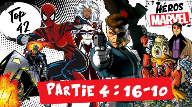 top 42 marvel partie 4 - ghost rider, spider-girl, storm, nick fury, howard the duck, machine man